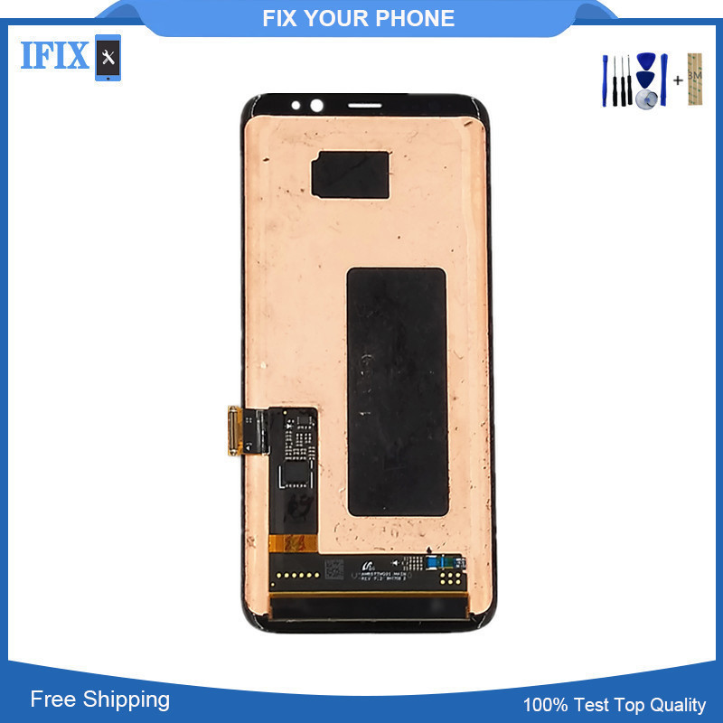 2017 New Super Amoled for Samsung Galaxy S8 LCD Display Touch Screen Digitizer Assembly Original Lcd for S8 Free Shipping +Tools