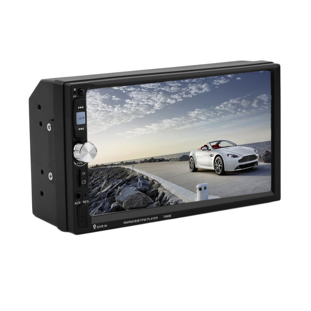 7080B Araç Video Player ile 7 Inç HD Dokunmatik Ekran Bluetooth Stereo Radyo Araba MP3 MP4 MP5 Ses USB Otomatik elektronik