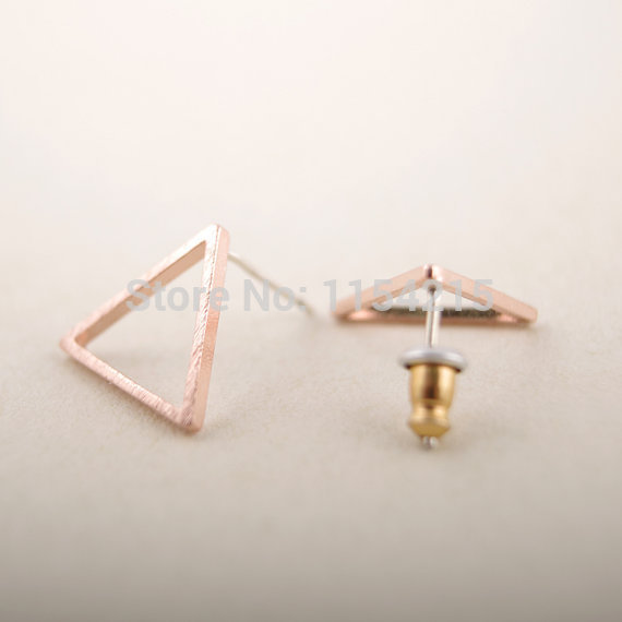 New Fashion geometric triangle studs earring jewelry for Women EY-E008