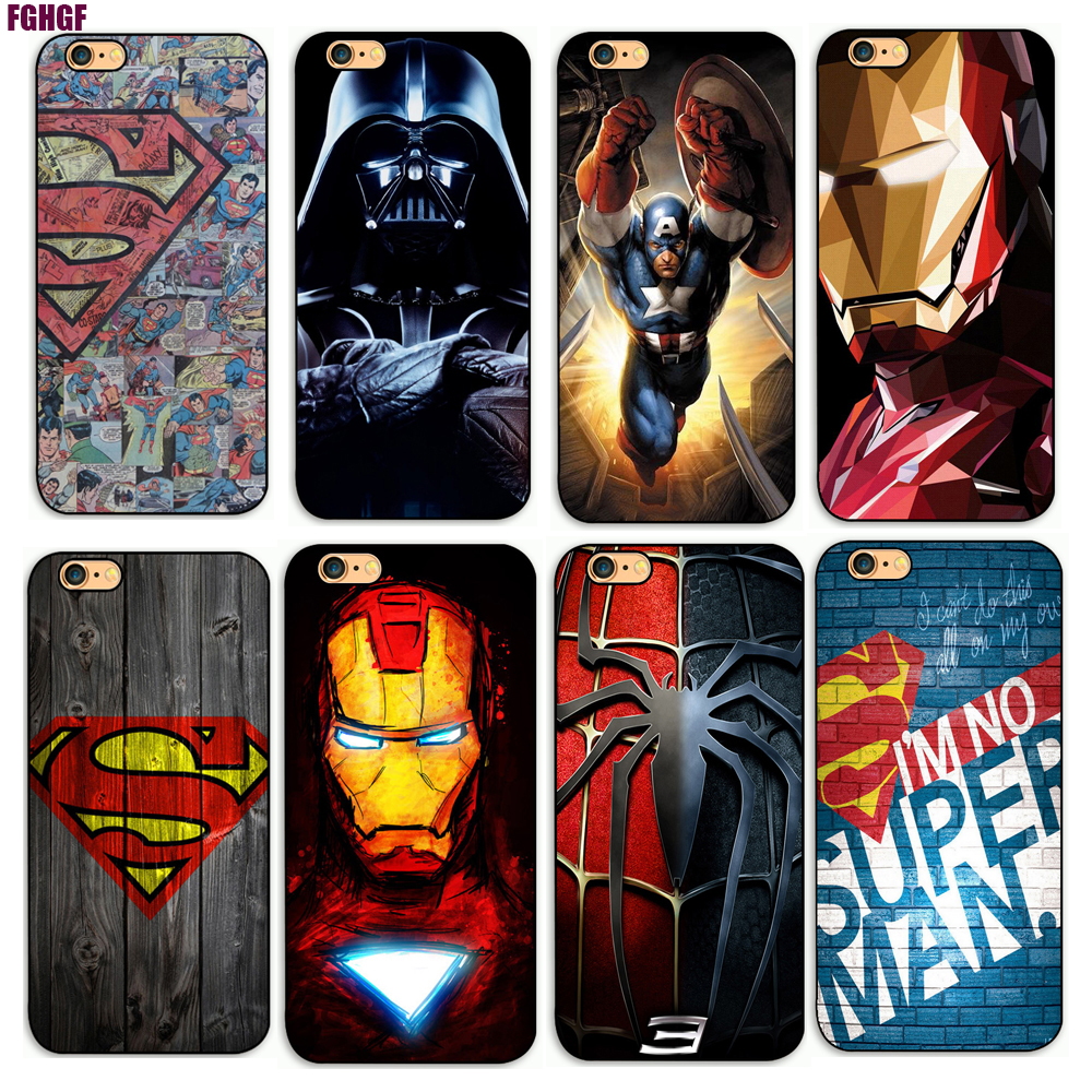 Deadpool/demir Adam/Marvel Avengers KingKong Star Wars Telefon Sert Plastik Kılıf Kapak Apple iPhone Için 4 s/5 s/se/5c/7/6s7plus/8 8 p