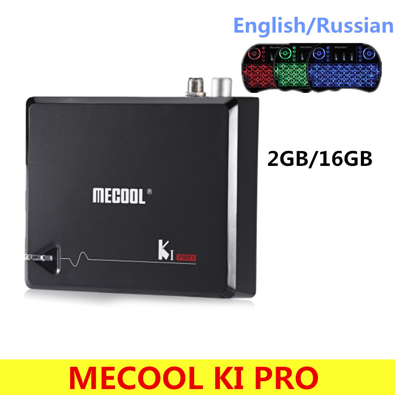 MECOOL KI Pro Android 7.1 TV Kutusu Amlogic S905D Quad core DDR4 2 GB 16 GB Set-top box 2.4G/5G WiFi H.265 HD UHD 4 K Medya oyuncu