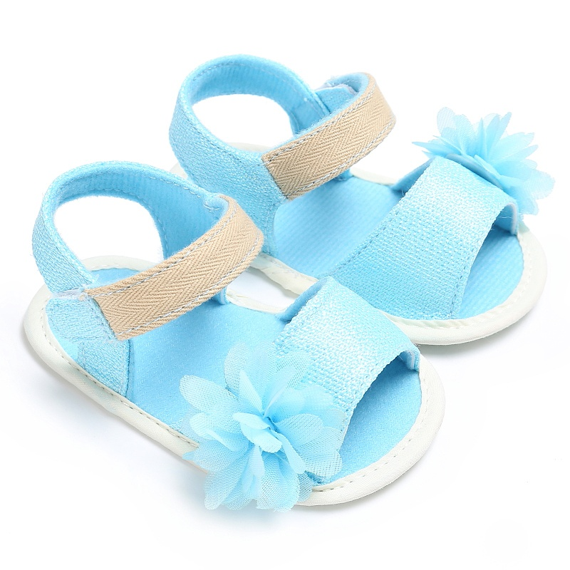Cute Baby Summer Girl Toddler Infant Girls Soft Sole Fashion Prewalker Crib Princess Flower Shoes Firstwalker 0-18M