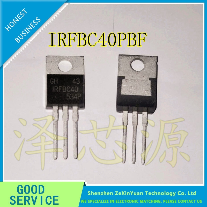 20 ADET/GRUP IRFBC40PBF IRFBC40 TO220 600 V 6.2A TO-220